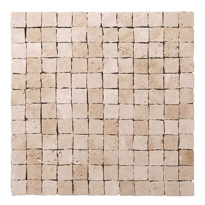 "StoneSkin Peel-n-Stick 12"" x 12"" Cracked Mosaic in Beige"