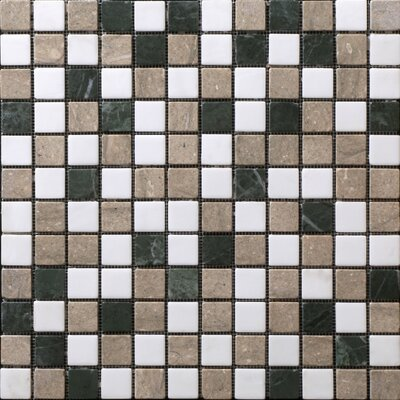 "StoneSkin Traditional 12"" x 12"" Mosaic in White/Green Mix"
