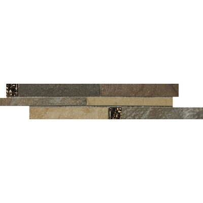 "Emser Tile Bombay 13"" x 3"" Floor Listello in Multicolor"
