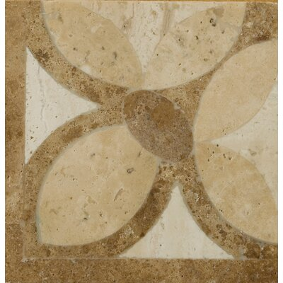 "Emser Tile Natural Stone 4"" x 4"" Waterjet Travertine Listello Corner in Maggiore"