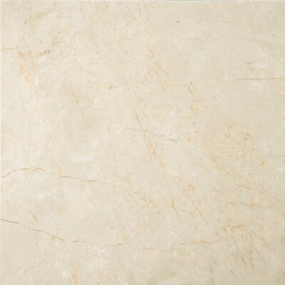 """Emser Tile Natural Stone 12"""" x 12"""" Marble Tile in Crema Marfil Classico"""