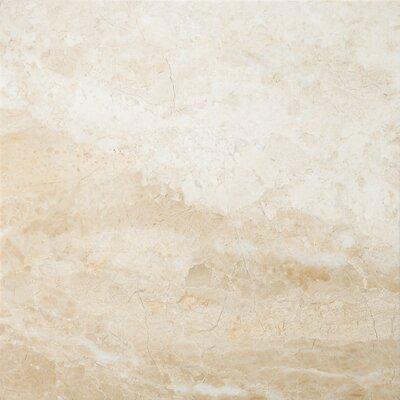 "Emser Tile Natural Stone 18"" x 18"" Marble Tile in Milano Beige"