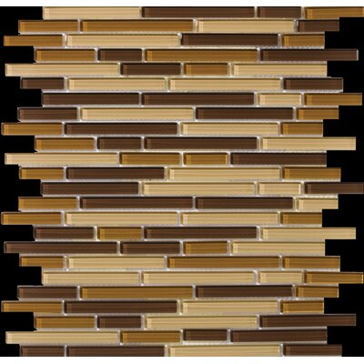 Emser Tile Lucente Random Sized Glossy Mosaic Pattern Blend in Filigrana