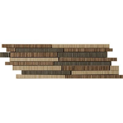 "Emser Tile Strands 12"" x 4"" Floor Listello in Dark"