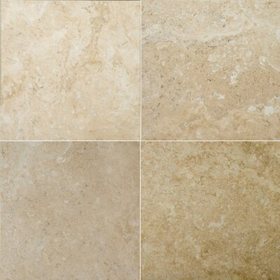 "Emser Tile Natural Stone 16"" x 16"" Crosscut Travertine Tile in Dore Antique"