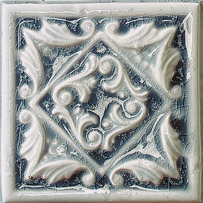 "Emser Tile Cape Cod 6"" x 6"" Seashore Accent Tile in Ocean Blue Crackle"