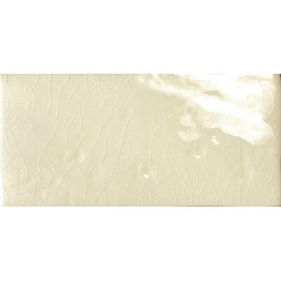 "Emser Tile Cape Cod 3"" x 6"" Double Fire Glazed Ceramic Wall Tile in Artisan Cream Crackle"