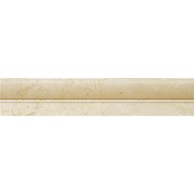 "Emser Tile Natural Stone 12"" x 2"" Polished Marble OG in Crema Marfil"