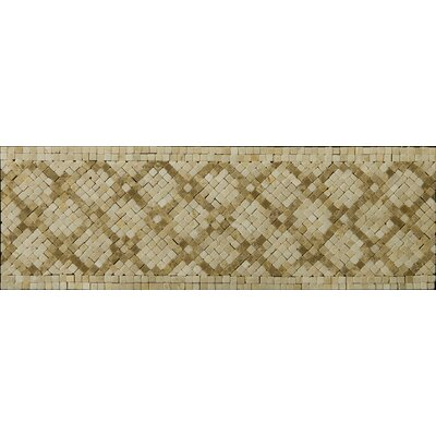 "Emser Tile Natural Stone 12"" x 4"" Honed Marble Savona Listello"