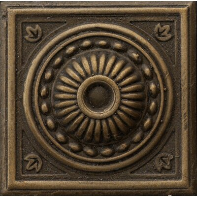 "Emser Tile Renaissance 2"" x 2"" Pompei Insert Tile in Antique Bronze"