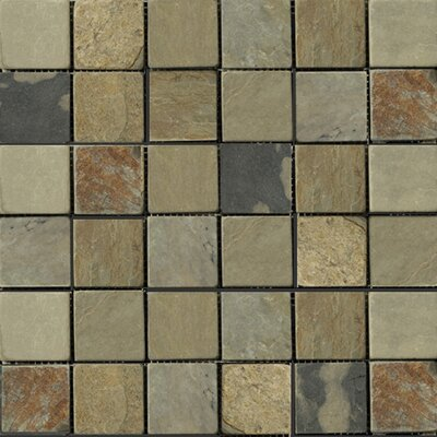 "Emser Tile Natural Stone 12"" x 12"" Slate Mosaic in Autumn Lilac"