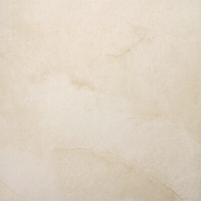 "Emser Tile St Moritz 18"" x 18"" Glazed Floor Porcelain Tile in Cream"