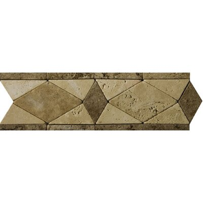 "Emser Tile Natural Stone 12"" x 4"" Malabar Travertine Listello"
