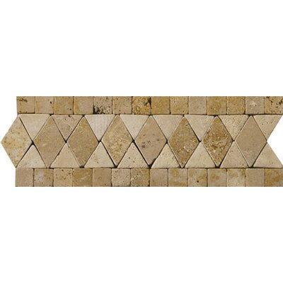 "Emser Tile Natural Stone 12"" x 4"" Schema Pisa Travertine Listello"