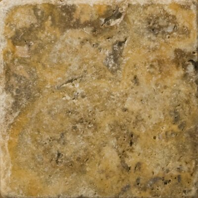 "Emser Tile Natural Stone 4"" x 4"" Fontane Travertine Tile in Ivory Classic"
