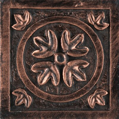 "Emser Tile Camelot 2"" x 2"" Guinevere Dot in Copper"