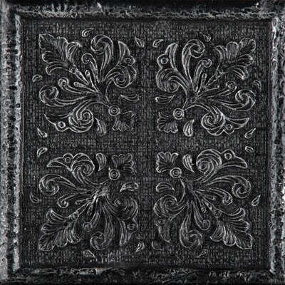 "Emser Tile Camelot 4"" x 4"" Merlin Deco in Iron"