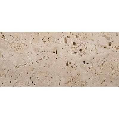 "Emser Tile Natural Stone 3"" x 6"" Cottage Tumbled Travertine in Ivory"