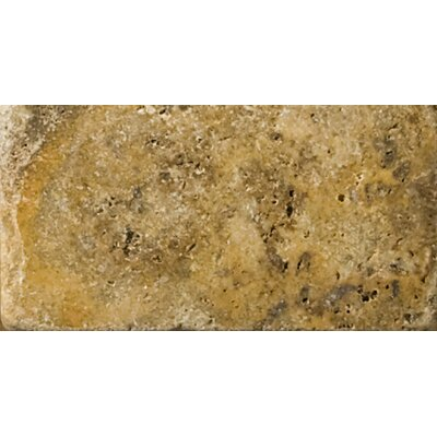 "Emser Tile Natural Stone 3"" x 6"" Cottage Tumbled Travertine in Scabos"
