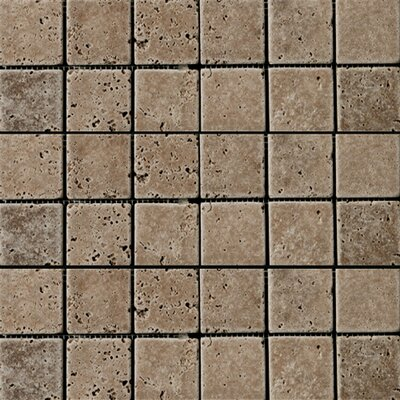 "Emser Tile Natural Stone 2"" x 2"" Fontane Travertine Mosaic in Walnut"
