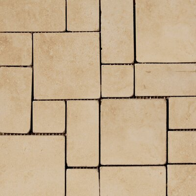 "Emser Tile Coliseum 13"" x 13"" Glazed Porcelain Mini Coliseum Mosaic in Ephesus"