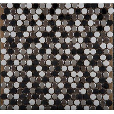 Emser Tile Confetti Glazed Porcelain Penny Round Mosaic in Gelido