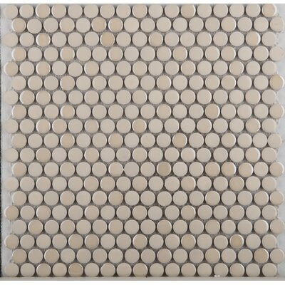Emser Tile Confetti Porcelain Penny Round Mosaic in Cream