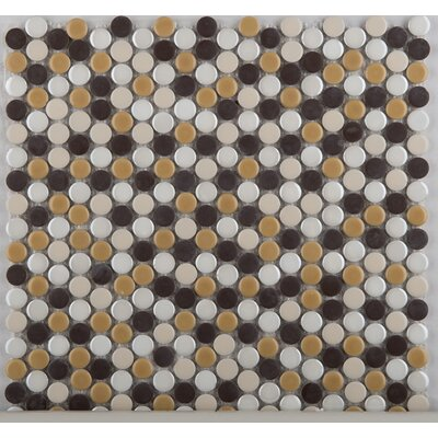 Emser Tile Confetti Porcelain Penny Round Mosaic in Caldo