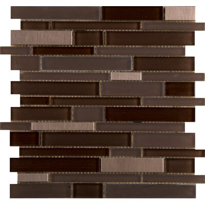 Emser Tile Flash Random Sized Glass Mosaic in Illuminated