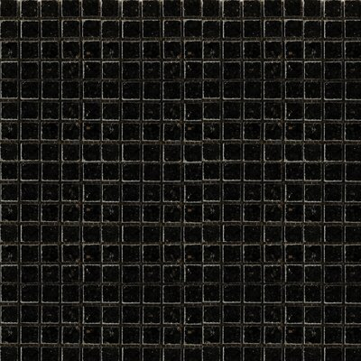 "Emser Tile Absolute Black 12"" x 12"" Polished Granite Mosaic in Black"