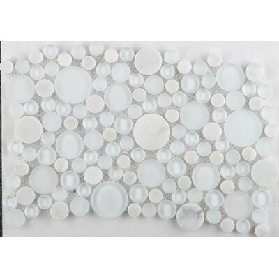 "Emser Tile Lucente 12"" x 12"" Mosaic Circle Blends in Ambrato"