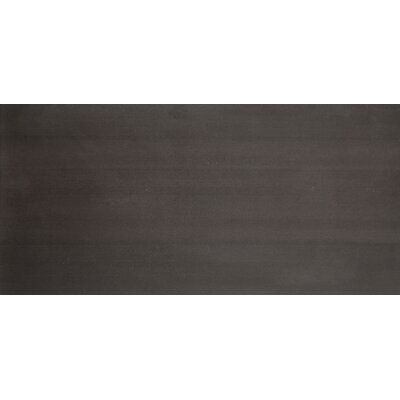 "Emser Tile Perspective 12"" x 24"" Glazed Porcelain Tile in Black"
