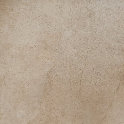 "Emser Tile St. Moritz 18"" x 18"" Glazed Porcelain Tile in Cotton"