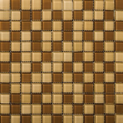 Emser Tile Lucente Glossy Mosaic Blend in Amber / Honey