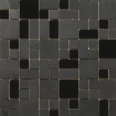 "Emser Tile Lucente 13"" x 13"" Stone and Glass Mosaic Pattern Blend in Zanfirico"