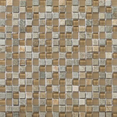Emser Tile Lucente Stone and Glass Mosaic Blend in Putini