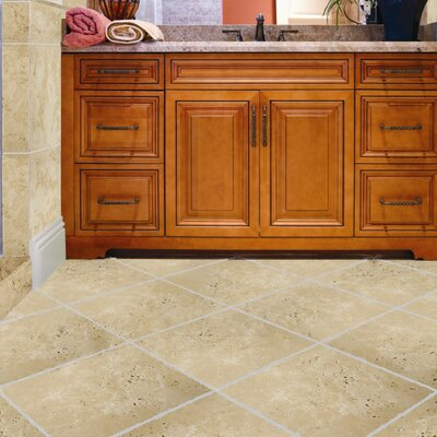 "Emser Tile Natural Stone 12"" x 12"" Crosscut Travertine Tile in Dore Antique"