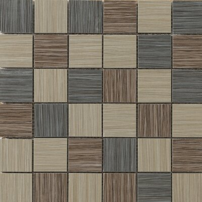 "Emser Tile Strands 12"" x 12"" Blend Mosaic Tile in Dark"