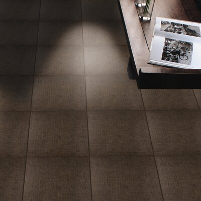 "Emser Tile Tex-Tile 18"" x 18"" Porcelain Floor Tile in Wool"