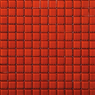 "Emser Tile Lucente 1"" x 1"" Glass Mosaic in Ruby"