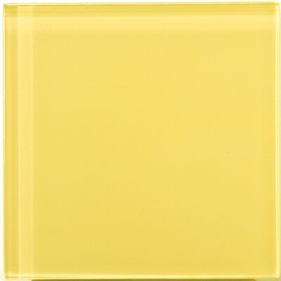 "Emser Tile Lucente 4"" x 4"" Glossy Glass Tile in Sunflower"