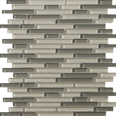 "Emser Tile Lucente 13"" x 13"" Glossy Glass Mosaic in Pellestri Linear"
