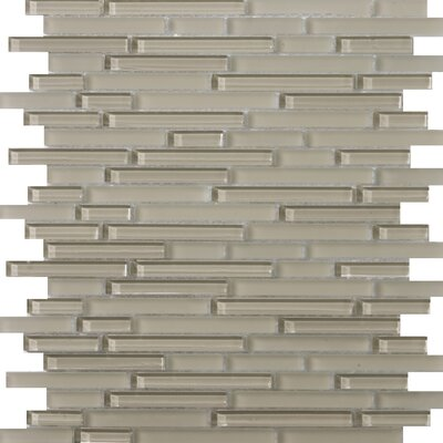 Lucente Random Sized Glossy Glass Mosaic in Morning Linear