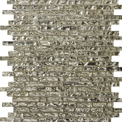 Emser Tile Vista Random Sized Glass Mosaic in Balbi Linear