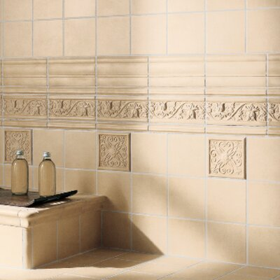 "Emser Tile Cape Cod 9"" x 4"" Meadow Accent Tile in Natural Matte"