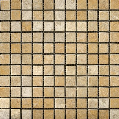 "Emser Tile Natural Stone 1"" x 1"" Slate Mosaic in Golden Sand"