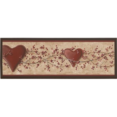 Hearts and Vine Graphic Art on Plaque