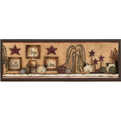 Faith Hope Love Wall Plaque