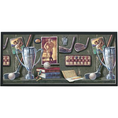 Illumalite Designs Vintage Golf Painting Print on Plaque