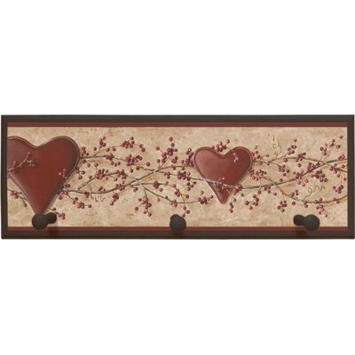 Illumalite Designs Hearts and Vine Wall Plaque with Wooden Pegs